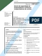 NBR 08011 - 1995 - Calculo Da Capacidade De Transportadores Continuos - Transportadores De Correi.pdf