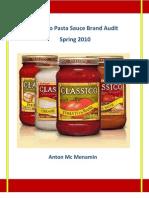 Classico Pasta Sauce Brand Audit (USA)