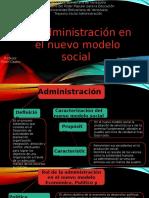 Diapositivas Administracion en El Nuevo Modelo Social