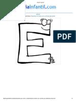 Imprimir Letra E