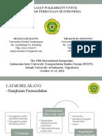 Penilaian Walkability Untuk Wilayah Perkotaan Di Indonesia