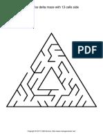 Triangular Delta Maze With 13 Cells Side