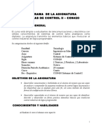 CON420 Sistemas de Control II