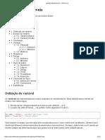JavaScript Variáveis