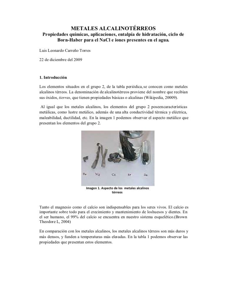 Metales alcalinos terreos urtaz Image collections