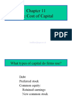 CH 11 Cost of Capital