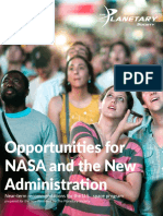 Opportunities for NASA and the Next Administration the Planetary Society