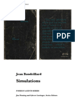 (Foreign Agents Series)Jean Baudrillard-Simulations -Semiotext(e)(1983)
