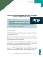 Conceptos importantes en materia de Actividad Física y de Condición Física