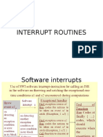Interrupt Routines