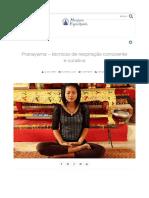 Pranayama - Técnicas de Respiração Consciente e Curativa