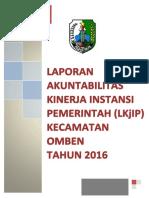 LKjIP Kecamatan Omben 2016 PDF