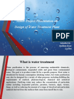 Presentation on Water Treatment