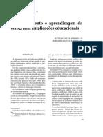 Desenvolvimento e Aprendizagem Da Ortografia