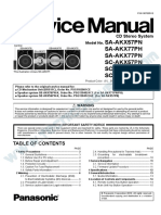 Panasonic AK SC-AKX57PN AKX77PH AKX77PN Sistema de Audio CD-MP3-USB Manual de Servicio