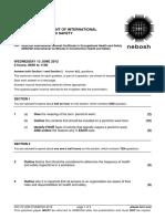 NEBOSH IGC1 Past Exam Paper June 2012