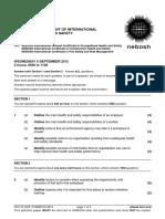 NEBOSH IGC1 Past Exam Paper September 2012