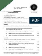 NEBOSH IGC2 Past Exam Paper March 2012