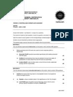 NEBOSH IGC2 Past Exam Paper April 2005