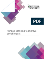 Horizon Scanning to Improve Social Impact