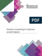 Horizon Scanning to Improve Social Impact