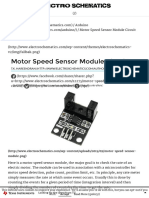 Motor Speed Sensor Module Circuit