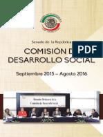 Informe de la Comisión de Desarrollo Social del Senado 2015-2016.