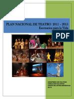 Plan Nacional de Teatro - Agosto 5 Síntesis