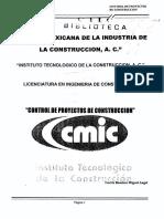 Control de Proyectos de Construccion