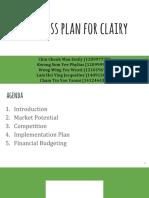 Clairy Presentation Marketing Plan
