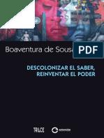 Desconolonizar El Saber Reinventar El Poder Boaventura de Sousa Santos
