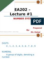 PEA202 Lec#1 Number System