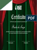 Certificado Fênix MODELO