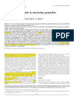 Patient Assessed Health in Ankylosing Spondylitis - A Structured Review 2005