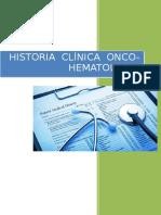 Historia Clinica - Oncohematologia