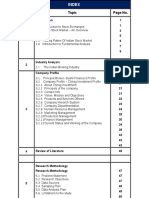 Index of Contents