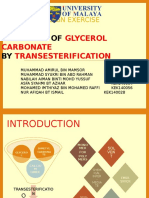 Synthesis of Glycerol Carbonate From Glycerol and Dimethyl Carbonate