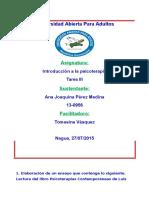 Unidad III INTRODUCCION A LA PSICOTERAPIA