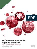 Labcom - Informe Semanal de Agenda Pública - Marzo 17, Semana 2