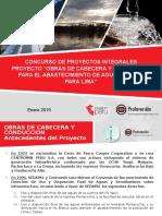 Proyecto Obras de Cabecera Enero 2015