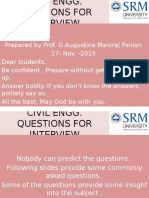 Civil Engg Interview Questions