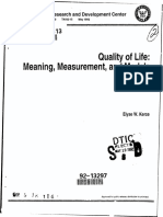 Measuring Quality of Life