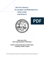 south carolina academic standards and performance indicators for science 2014