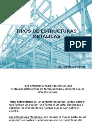 Tipos De Estructuras Metalicas 1 Soldadura Tornillo