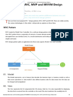 Understanding MVC, MVP and MVVM Design Patterns