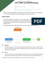 Understanding MVC, MVP and MVVM Design Patterns