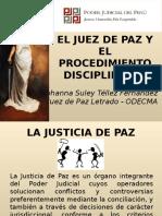 El Juez de Paz y El Procedimiento Disciplinario