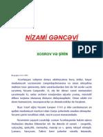 Nizami gəncəvi -Xosrov və şirin