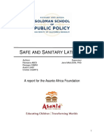Safe and Sanitary Latrines Final Report June 2015