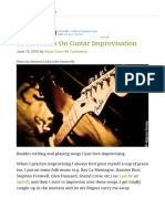 10 Essentials on Guitar Improvisation - GUITARHABITS